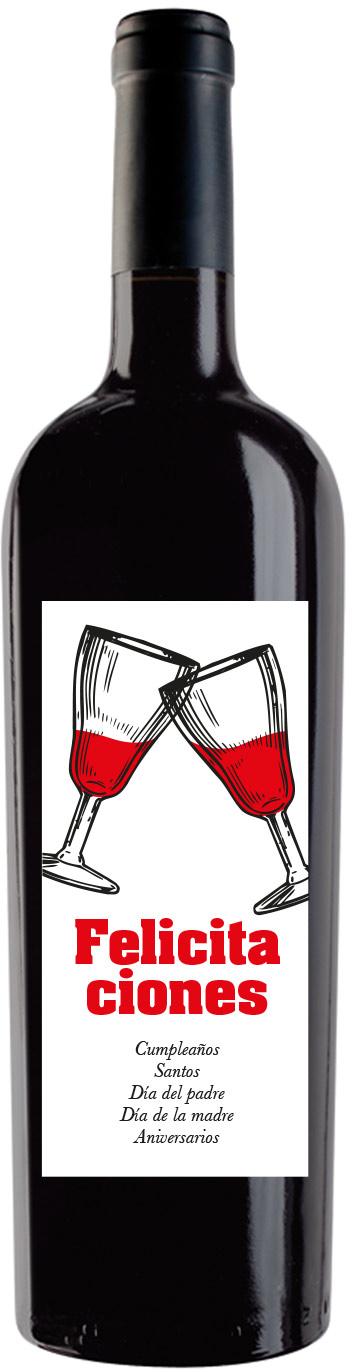 vino personalizado FELICITACIONES