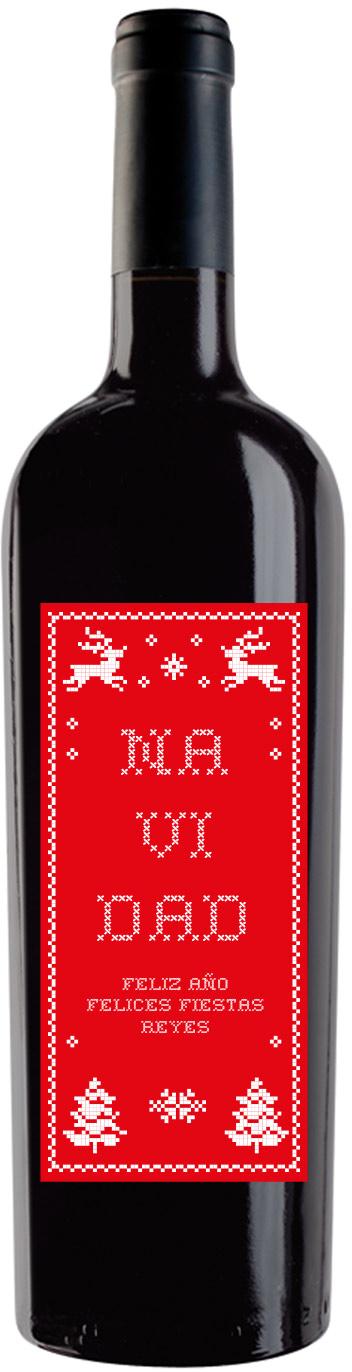 vino personalizado NAVIDAD
